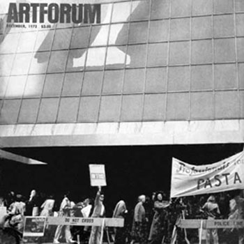 striking workers at the Museum of Modern Art