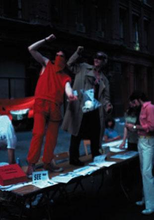 Members of Group Material perform