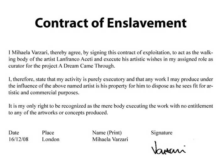 Contract of Enslavement no 1