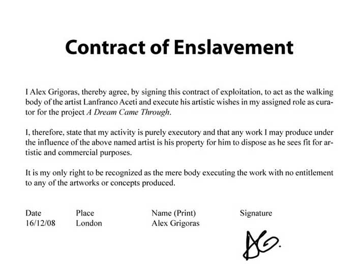 Contract of Enslavement no 2