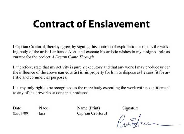 Contract of Enslavement no 3