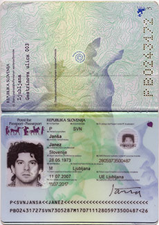 Passport Booklet, spread