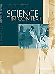 2011, Science in Context Volume 24 - Issue 3