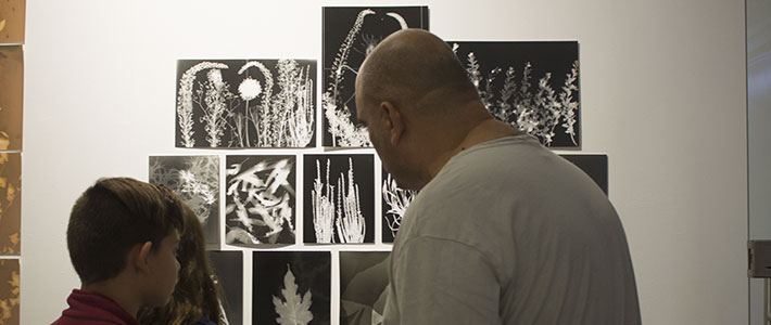 Photograms workshop exhibited